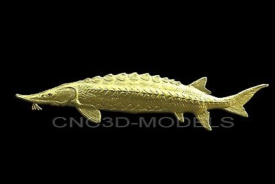 3D Model STL for CNC Router Engraver Carving Artcam Aspire Fish Fishing v221