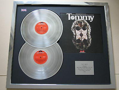 THE WHO Soundtrack of Tommy PLATINUM DOUBLE LP Disc & Cover Presentation