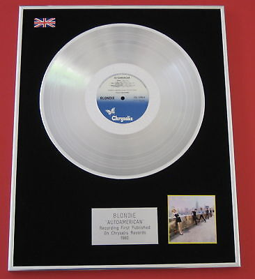 BLONDIE Autoamerican PLATINUM LP Disc Presentation