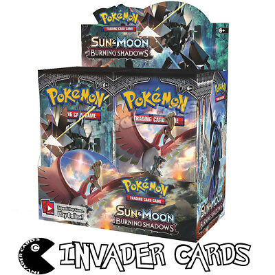 Pokemon Burning Shadows Base Set Collection Booster Box 10 Card Pack New Sealed