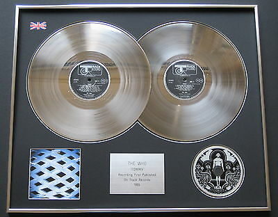 THE WHO Tommy PLATINUM DOUBLE LP Presentation Disc
