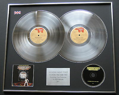 BEE GEES Saturday Night Fever PLATINUM DOUBLE LP Disc / CD Presentation