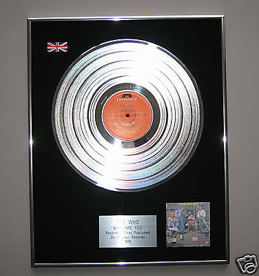 THE WHO Who Are You PLATINUM LP Disc Presentation