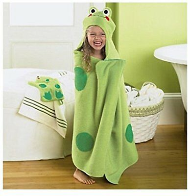 Jumping Beans Frog Hooded Bath Towel in Green