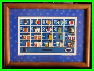659# * SYDNEY 2000 OLYMPIC GAMES * Weeks To Go ( Framed Twenty Pin Set )