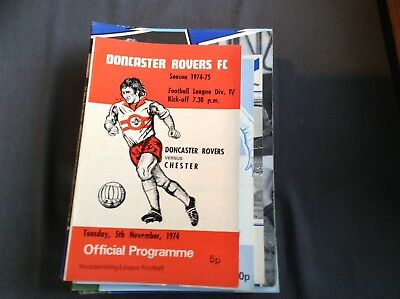 Doncaster Rovers V Chester City 5/11/74