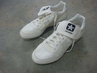 Converse Metal Cleat Baseball Shoes White Mens Size 10.5