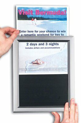 """11""""x17"""" Picture Frames for Wall Mount, Slide-in Design for Quick Poster Changes-"""
