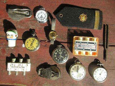 Vintage Collectables Lot Pocket Watches Junk Drawer