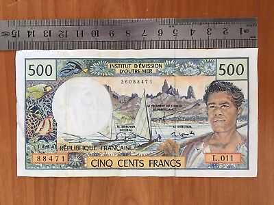 France / French Pacific Territories 500 Francs, ND(1992) P#1 - VF