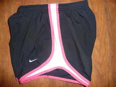 NIKE TEMPO XS 0 2 Black Pink DRI FIT Shorts Track Running Athletic Liner Nice!