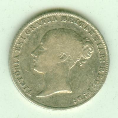 British Silver 1858 6 Pence-Lot D63