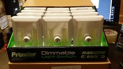 LOT OF  12 PIECES Promier Dimmable Cordless Light Switch BRAND NEW