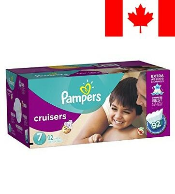 Pampers Cruisers Diapers Size 7, Economy Plus Pack, 92 Count