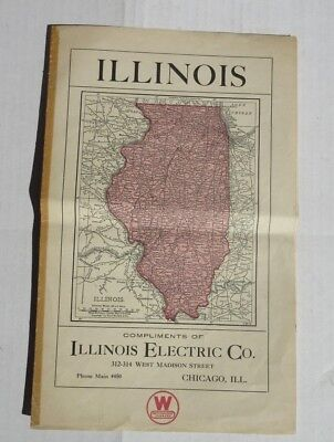 Illinois Electric Co Westinghouse c1920 Advertising Map Song Appliances