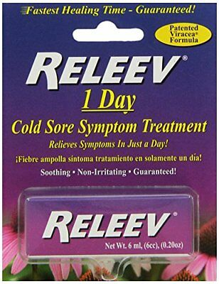 Releev 1 Day Cold Sore Treatment 6ML  (4 Packs)