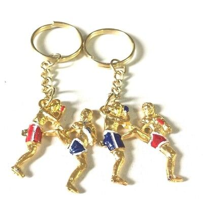 Set 2 Key Chain Art of Muay Thai and Kickboxing  Ideal for gift or Collectibles