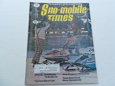 Sno-Mobile Times magazine 1974 Buyers Guide Speedway, Roll-O-Flex, Sno-Jet, Rupp