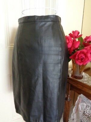 VINTAGE 1980's BLACK LEATHER PENCIL SKIRT BY RAGS TO LEATHER ADELAIDE