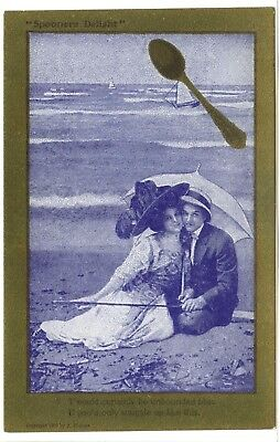 """1 of 5 """"Spooners Delight"""", Lovers, """"T'would certainly be unbounded bliss, if..."""
