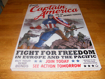Captain America Recruiting Poster  12 x18 Giclee canvas print stretched Nice