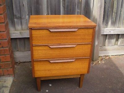 Vintage/retro Bedside/lamp Table Teak Veneer Eames Era Danish Design Mid Century