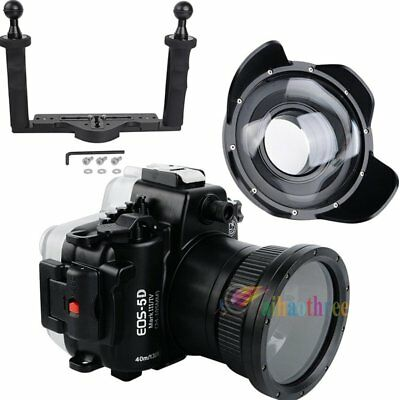 Seafrogs 40m Waterproof Case + Fisheye Dome Port For Canon EOS 5D Mark III IV