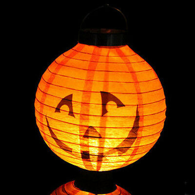 LED Paper Pumpkin Hanging Lantern Light Lamp Halloween Party Home Decoration NEw