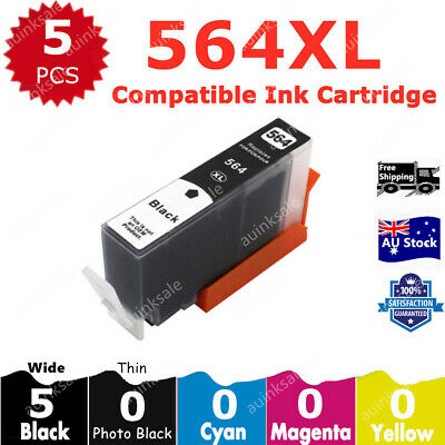5 Black only HP 564XL 564 Ink Cartridg For HP 3520 4620 3070 5510 5520 6510 6520