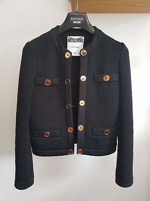 Moschino Couture Black Suit Box Jacket Size 8 (xs) New with Tags