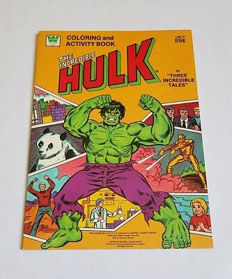 Rare Vintage New 1980 The Incredible Hulk  Coloring & Activity Book - Marvel Toy