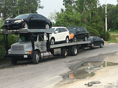 tow truck 4 cars rollback