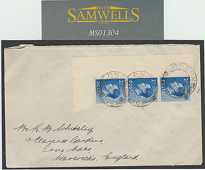 MS1304 1938 GB KEVIII Strip on mail posted at Pitcairn Islands with NZ Agency