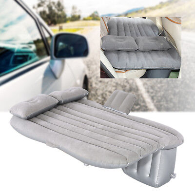 Gray Inflatable Sofa Mat Air Bed Couch Blow Up Mattress Car Mobile Cushion Seat