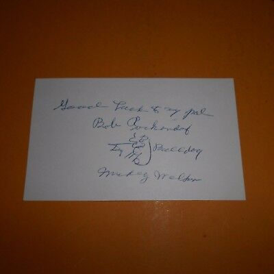 "Edward ""Mickey"" Walker was an American professional boxer Hand Signed Card"