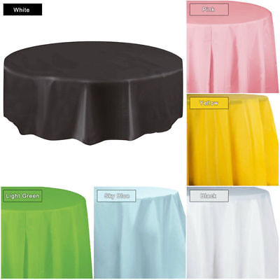 Round Plastic Disposable Table Cloth Table Covers Party Christmas Wedding Favors