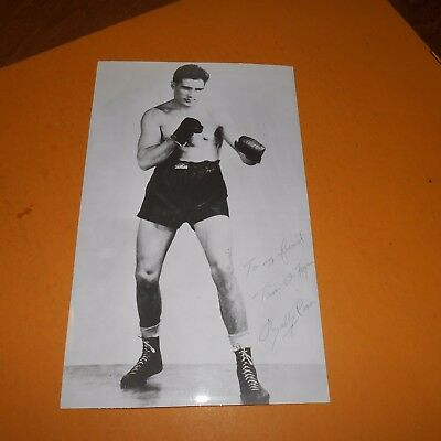 Billy Conn was an Irish American professional boxer Hand Signed Photo