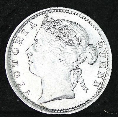 Victoria. Straits Settlements Silver 10 Cents, 1901. Just About As Struck
