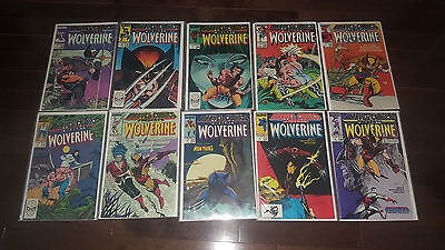 Marvel Comics Presents ...WOLVERINE #1 2 3 4 5 6 7 8 9 10(Sep 1988, Marvel) NM
