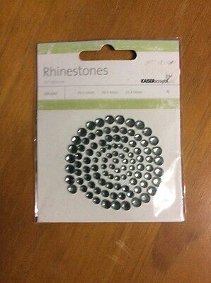 Embellishments For Craft and Scrapbooking, Kaisercraft Rhinestones, Blue Grey