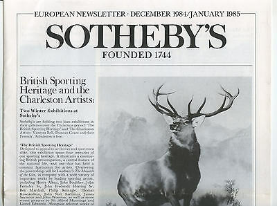 Sotheby's European Newsletter - 1985 - Twelve Issues : Antiques Art Auctions