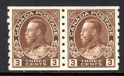 Canada KGV 1911-22 (Imperfxperf 8) 3c Brown SG224 MNH/Mint