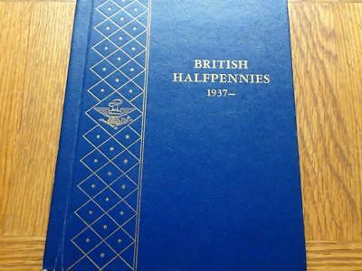 Half-Penny 1937 To 1967 Complete In De-Luxe Whitman Folder Great Britain Uk