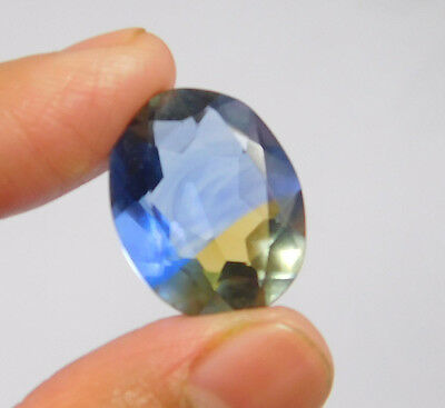 14 Cts. Treated Faceted Oval Shape Ametrine Cut Loose Cab Gemstone NG1930