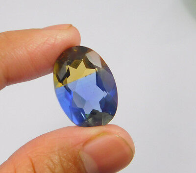13 Cts. Treated Faceted Oval Shape Ametrine Cut Loose Cab Gemstone NG1942