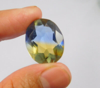 15 Cts. Treated Faceted Oval Shape Ametrine Cut Loose Cab Gemstone NG1932