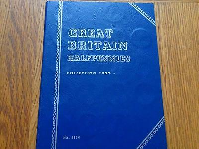Half-Penny 1937 To 1967 Complete 34 Coins In Whitman Folder Great Britain Uk