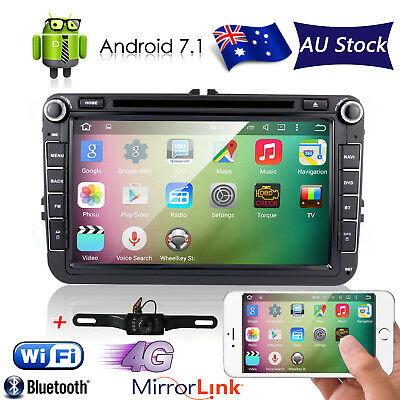 Android7.1 Car Stereo GPS Sat Nav CD DVD Player For VW Amarok Caddy Golf Passat