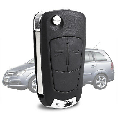 2x Replacement 2 button flip key case for Vauxhall Opel Astra H remote fob