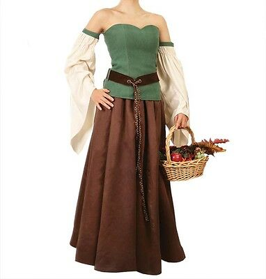 Forest Gown, Elven Dress, Belt included,Renaissance, LARP, S, M, L, XL, Festival